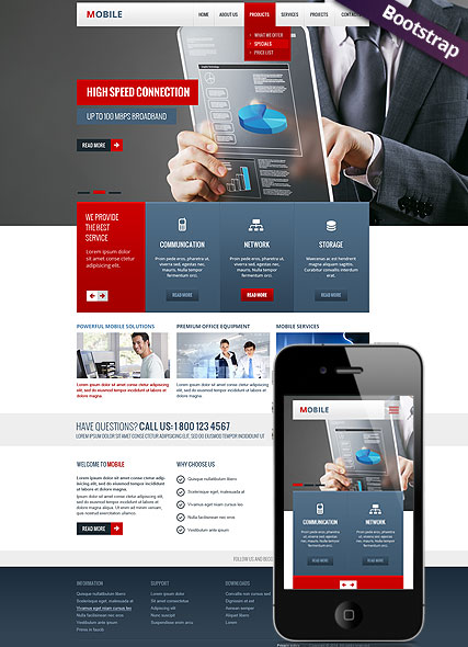Mobile - HTML template