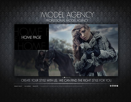 Model Agency - Easy flash templates