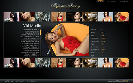 Model agency - Flash template