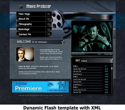 Movie Producer - Flash template