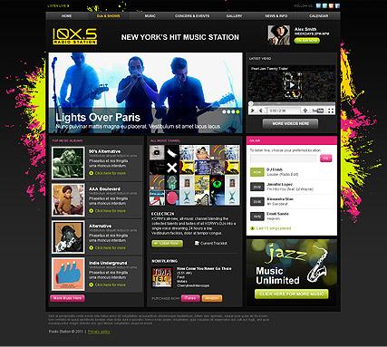 Online Radio Website Template. radio station template free website ...
