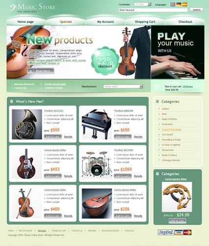 Music Store - osCommerce