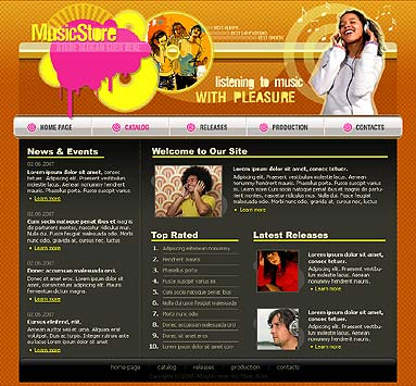 Music store - Website template