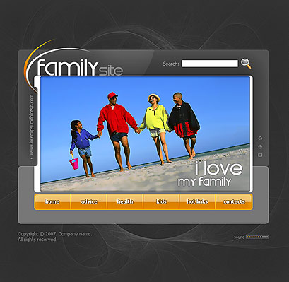 My family - Flash template