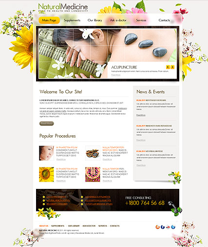 Natural Medicine - HTML template