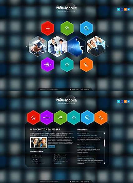 New Communication - HTML5 templates