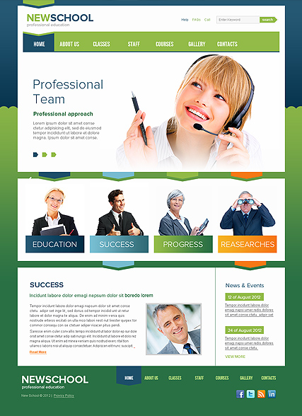 New School - HTML template