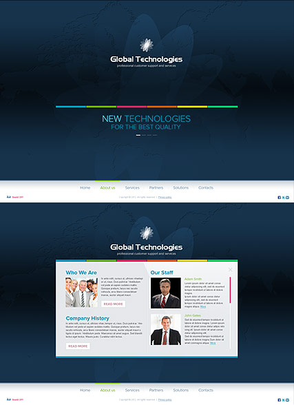 New Technology - HTML5 templates