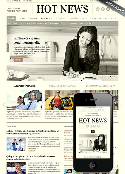 Newspaper - HTML template