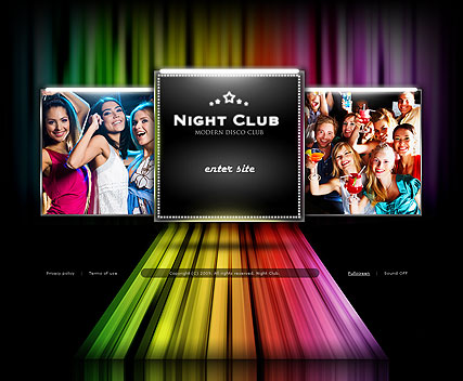 Night Club - VideoAdmin flash templates