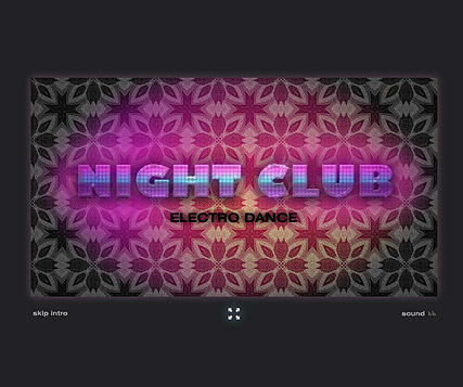 Night Club - Flash intro template