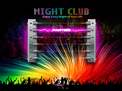 Night Club - Easy flash templates