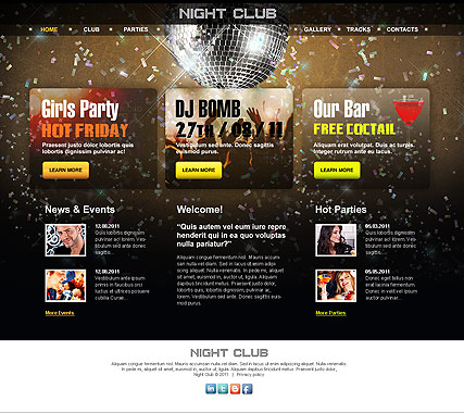 Night Club - HTML template