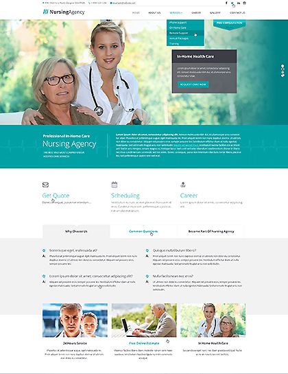 Nursing care - HTML template