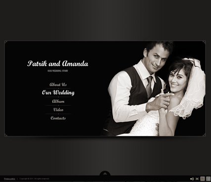 Our Wedding - VideoAdmin flash templates