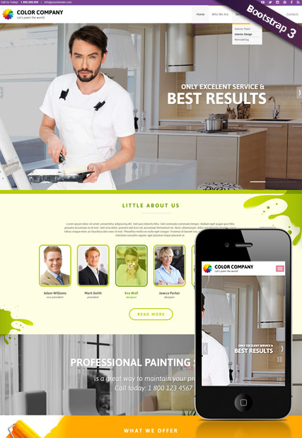 Paint co - HTML template