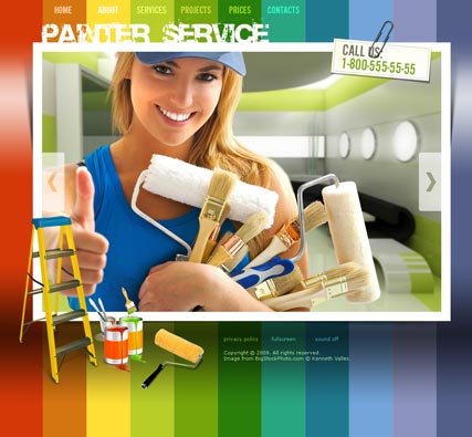 Painter Service - Easy flash templates