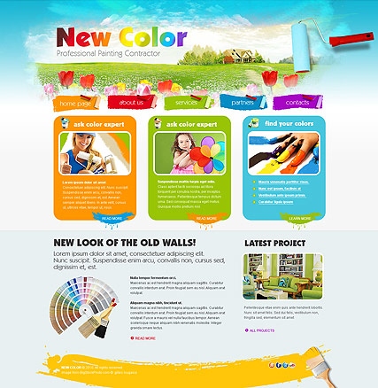 Painting - HTML template