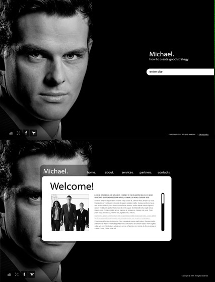 Personal Page - Easy flash templates