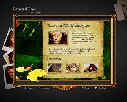 Personal - Flash template