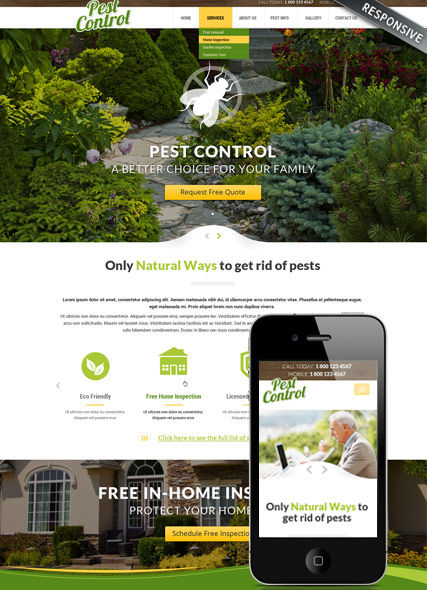 Pest control - HTML template