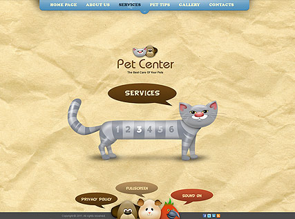 Pet Center - Easy flash templates