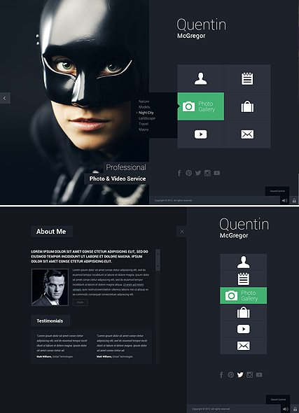 Photo & Video Service - HTML5 Gallery Admin