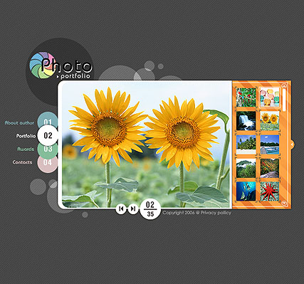 Photo folio - Flash template