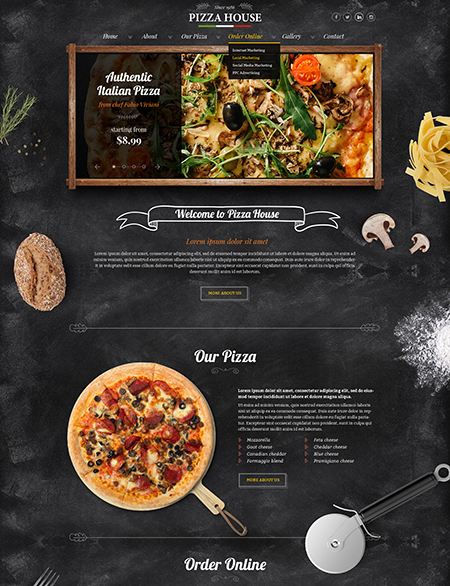 Pizza House - HTML template