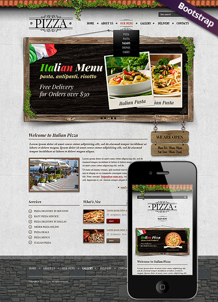 Pizza - HTML template
