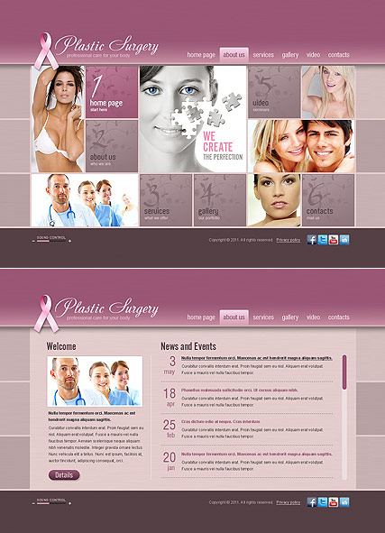 Plastic Surgery - HTML5 templates