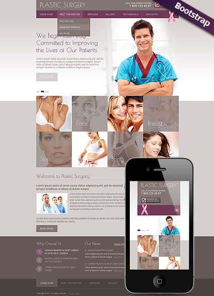 Plastic Surgery - HTML template