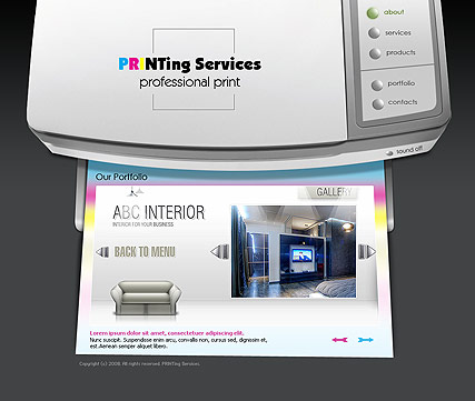 Printing service - Easy flash templates