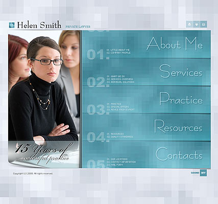 Privat lawyer - Flash template
