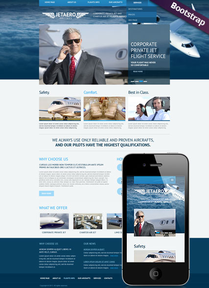 Private Airline - HTML template