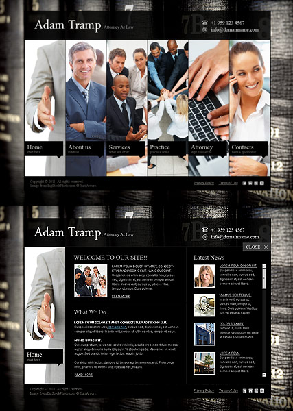 Private Lawyer - HTML5 templates