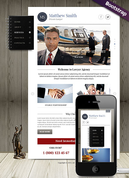 Private Lawyer - HTML template