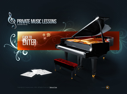 Private Lessons - VideoAdmin flash templates
