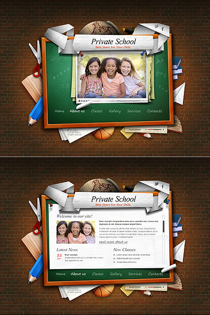 Private School - HTML5 templates