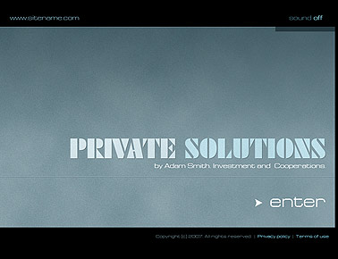 Private Solutions - Flash template
