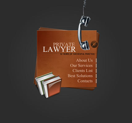 Private lawyer - Flash template