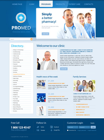 ProMed v2.5 - Joomla templates