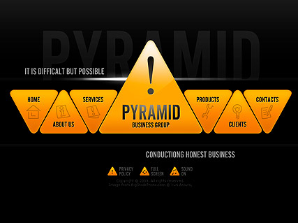 Pyramid Business - Easy flash templates