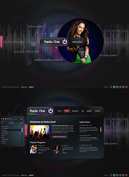 Radio One - HTML5 templates
