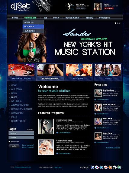 Radio Website Templates