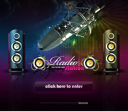 Online Radio Website Template. free tv or radio website templates ...