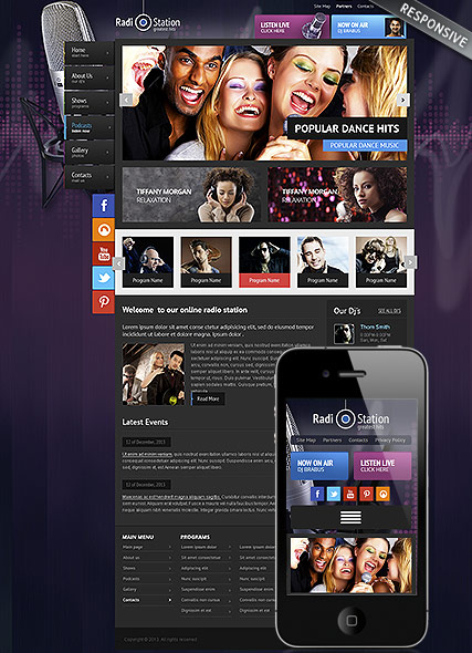 Radio - Wordpress templates