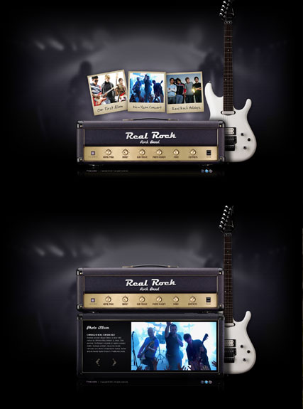 Real Rock Band - VideoAdmin flash templates
