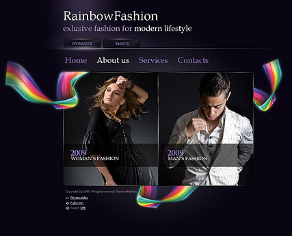 ReinbowFashion - Easy flash templates