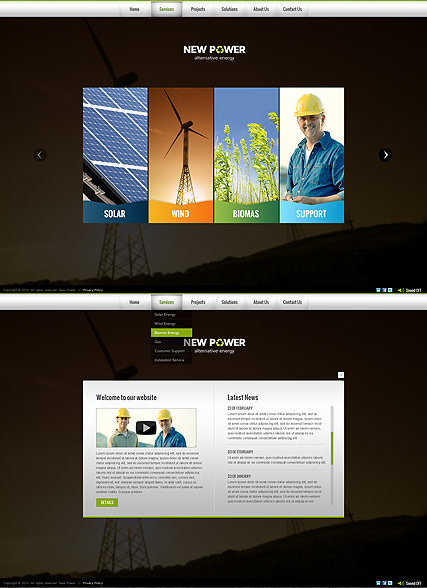 Renewable energy - HTML5 templates